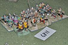 25mm medieval infantry 24 figures (6811) metal painted