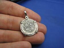 Sterling Silver Spanish Shipwreck Replica Coin Treasure Cobb Key West Pendant