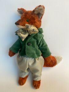 Artist Handmade Teddy Fox Doll  9inch Fairytale Orange Teddy Fox
