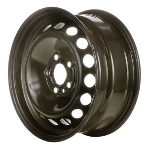 70201 Replacement New Steel wheel 15 X 6.5; Black Full Painted