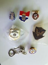 Law Enforcement Police Lapel Pins Lot of 7 Assorted Federal Toronto Handcuffs