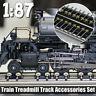 🔥1/87 Model Train Wheels Ho Scale Metal Treadmill Track Accessories Set