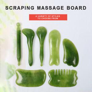 7PCS Gua Sha Natural Resin Quartz Stone Shape Facial Body Massage Board Tool Set