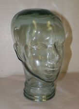 """VINTAGE GLASS HEAD MANNEQUIN DISPLAY CLEAR GLASS 11 1/2"""""""