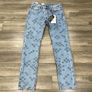 New Levis 511 Slim Fit Strong Cordura Fabric Jeans Mens 32 X 34 Check 955810065