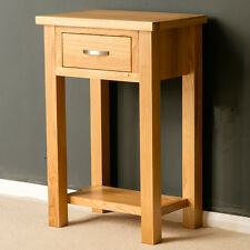 London Oak Small Hall Table / Telephone Table / Solid Wood Console / Light Oak