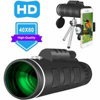 40X60 HD telescopio monoculare giorno visione notturna + Telefono Clip Treppiede