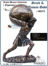 Atlas Greek Bronzed Statue w/Trinket Box TitanAstronomy/Navigation Veronese-6373