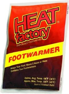 Heat Factory Thin Air Activated Foot Warmer Insoles 3 Pair Multi-Pack 19483