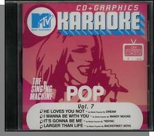 Karaoke CD+G - MTV Pop Hits Vol  7 - New Singing Machine CD! Larger Than Life!