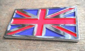 Union Jack Chrome Enamel Badge Self Adhesive NEW