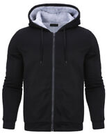Mens WARM Cotton Fleece Lined Hoodie Coat thicken Jacket Sweatshirt Outerwear