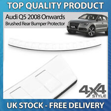 AUDI Q5 2008+ BRUSHED STAINLESS STEEL REAR BUMPER PROTECTOR SCRATCH GUARD COVER