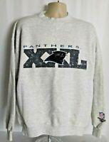 Carolina Panthers Reebok Vintage Rare NFL 1995 Sweatshirt Gray Mens XL