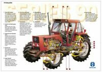 New Holland 90 Series 100-90 110-90 Fiatagri Cutaway Brochure Poster Advert A3