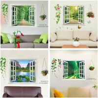 Fake Window Scenery Wall Sticker Decal Vinyl Art Mural Home Decor Removable