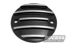 Zündungsdeckel schwarz für Harley-Davidson XL ab 04 und Big Twin 70-99 gerippt