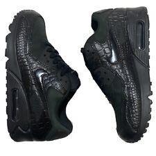"RARE Nike Air Max 90 ""Black Reptile"" Women's 6.5 Shoes Dead Stock 443817-003 EUC"