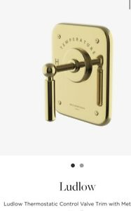Waterworks Ludlow Thermostatic Control Value in Antique Brass