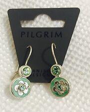 Pilgrim Jewelry Swarovski Crystal pale green Sterling silver Plated Earrings $10