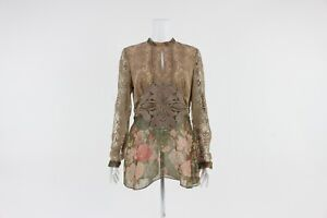 Anna Sui Floral Lace Blouse Size UK 8