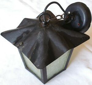Black Wrought Iron Porch Lantern