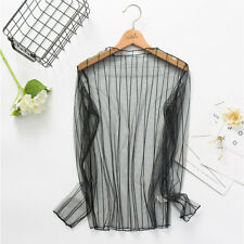 Women Hollow Mesh Net T-Shirt Long Sleeve Tee Tops Transparent Blouse Clubwear