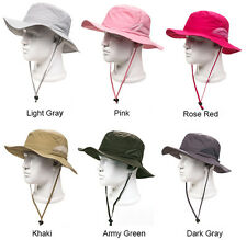 Outdoor Boonie Sun Hat Wide Brim Foldable Men's Womens Summer Hiking Fishing Cap