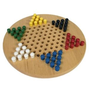 Wooden Chinese Chequers Family Game By House Of Marbles - Age 3 Plus