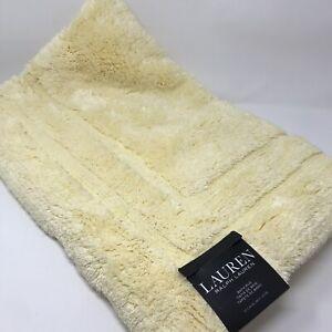 RALPH LAUREN Yellow Bath Rug Anti Slip 27x44 inches LARGE RUG RL 100% Cotton