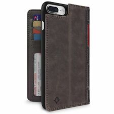 Twelve South BookBook 3in1 Genuine Leather Wallet Case Cover iPhone 7 Plus Brown