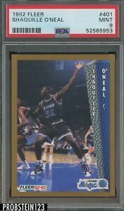 1992-93 Fleer #401 Shaquille O'Neal Magic RC Rookie HOF PSA 9 MINT