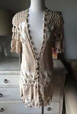 Mike Gonzalez Crochet Tunic Top Dress Ophelia Festival Boho Anthropologie $282