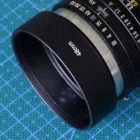 Black 48mm LENS HOOD Cover Cap +CAP For Canon Canonet HOT NEW QL17 Q4T6 GII T8A5