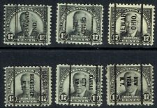 US: 1925-31 17c WILSON (566/696) with precancels. DLE, LOCAL & BUREAU examples!