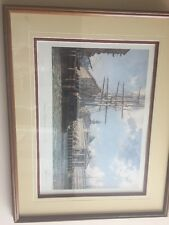 John Stobart  Faneuil Hall from East in 1825 -framed signed 275/750