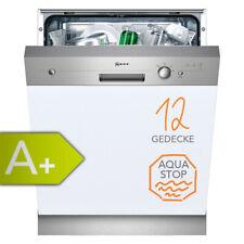 Geschirrspüler Neff Spülmaschine 60 cm A+ teilintegriert Einbau Spüler Edelstahl