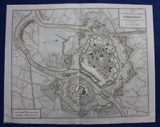 Original antique map ITALY, ALESSANDRIA, MARENGO, Napoleonic Wars, Tardieu, 1822