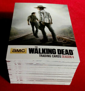 THE WALKING DEAD - Season 4, Part 1 - COMPLETE BASE SET (72 cards) - Cryptozoic