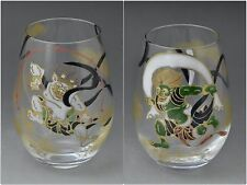 Set of Wind & Thunder Gods Glass Tumblers (Handmade in Kyoto, Japan)