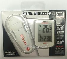 CatEye Strada Slim Wireless Cycling Speed Computer CC-RD310W White Brand New W