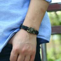 Lederarmband Viking Wolf Echt Leder Armband Wikinger Mittelalter Schmuck