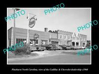 OLD LARGE HISTORIC PHOTO OF PINEHURST NORTH CAROLINA, CADILLAC CAR STORE c1960