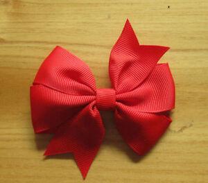 Wholesale 20pcs Multicolor Girl's Women's Ribbon Big Bowknot Hair Bow Hair Clips