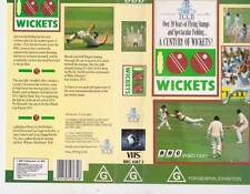 CRICKET ~ WICKETS A CENTURY OF WICKETS  THE VIDEO  VHS VIDEO PAL~ A RARE FIND