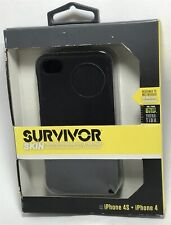 Griffin Survivor Skin Case for Apple iPhone 4/4S - soft silicone - black