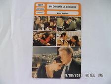 CARTE FICHE CINEMA 1997 ON CONNAIT LA CHANSON P.Arditi