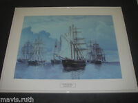 Framed ART Print Brownlow D Knox 1880 A Change of Wind in the Downs White Metal
