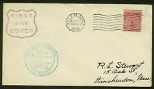 #682 MASS. BAY COLONY FDC-SALEM, MA-- C of C CACHET PLANTY 682-3 & GENERIC STAMP