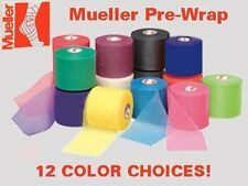 "4 Rolls Mueller Athletic Pre-Wrap 2-1/2"" X 30 Yards - 12 Color Choices"